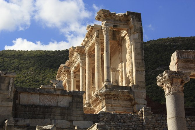Ephesus, Turkey was crowded so I went to the library courtyard and took the picture from a different angle