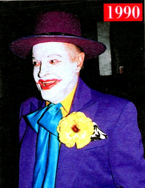 10-31-90: Jack Nicholson masquerading as Hope at Lucy and Gary's annual charity Spook-tacular.