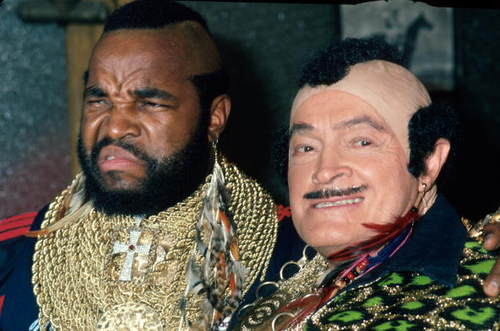 10/31/84: Bob Hope (left) and Mr. T.
