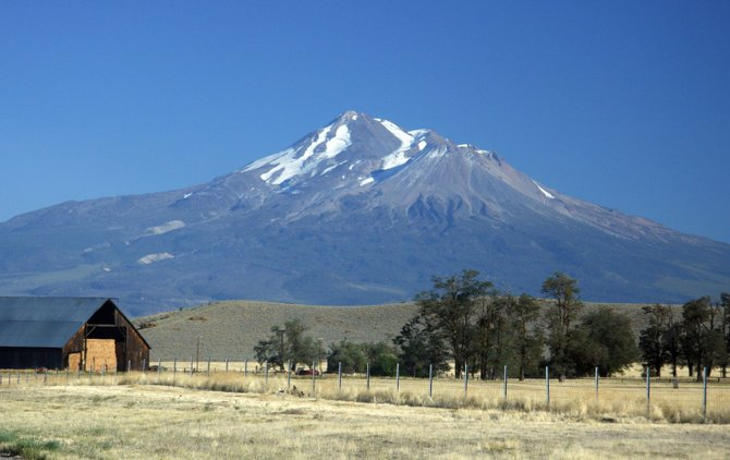 A view of Mt. Shasta.