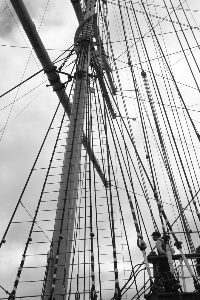 The historical Balclutha, docked at the embarcadero in San Franciso.