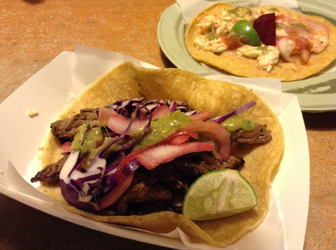 Flank steak taco