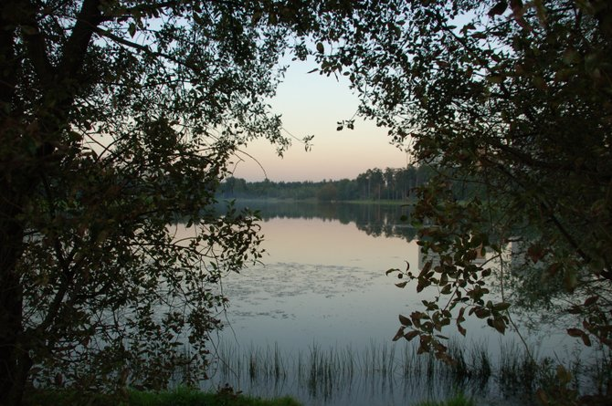 Lake in Zelenograd, Moscow, Russia.