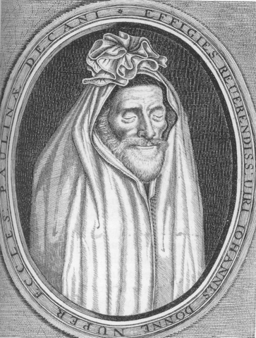 Donne in his shroud