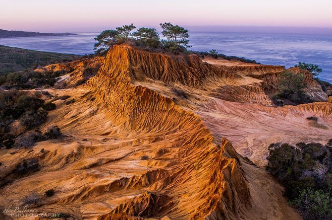 The sunrise this morning Broken Hill, Torrey Pines overlooking the Pacific Ocean toward La Jolla. By Alex Baltov Photography.