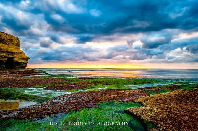 Justin Bridle ventured down the cliffs from PLNU to get this colorful shot of the tide pools in La Jolla.
