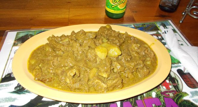 My $7 goat stew. Only thing: be careful of the sharp bones