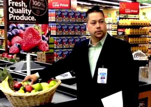 Walmart dark money group president Aaron Rios pitches company store in U-T San Diego video