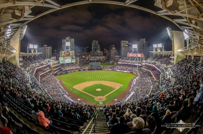 Petco Park the other night by Evgeny Yorobe Photography.