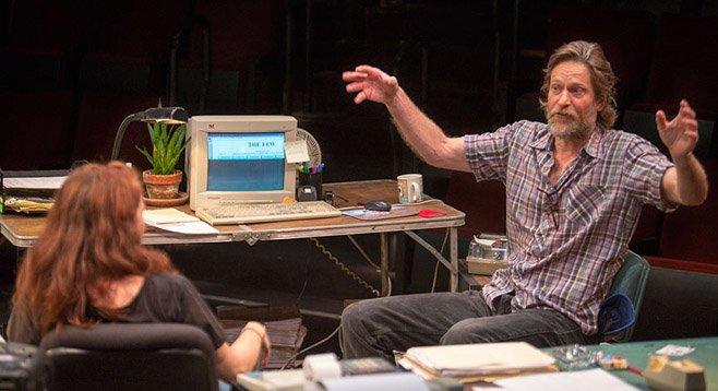 Eva Kaminsky as QZ and Michael Laurence as Bryan.