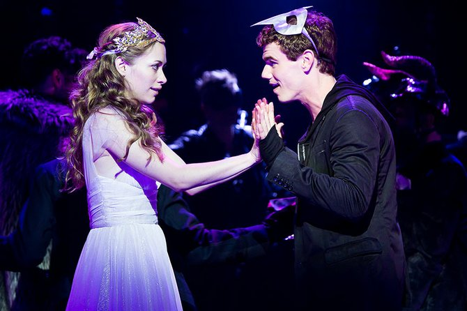 Talisa Friedman as Juliet and Jay Armstrong Johnson as Romeo.