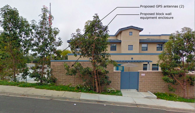 The GPS antennas would be installed in part of the wall that surrounds Del Cerro's Fire Station 31
