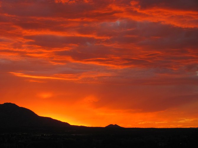 Sunset from my backyard in the town of Prescott, AZ in northern Arizona