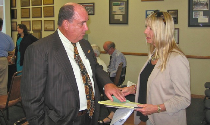 Ed Brand and Donna Frye on September 23