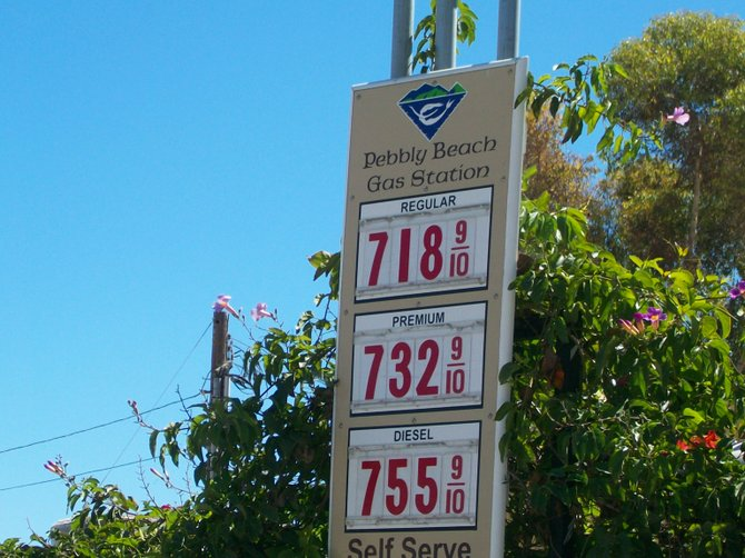 You think our gas prices are high? Look at what they charge over on Catalina Island!