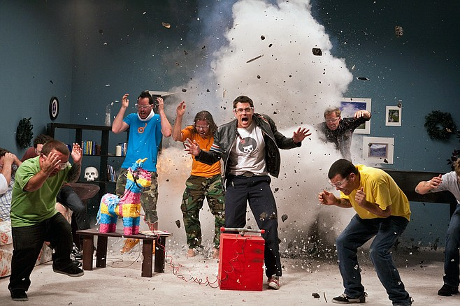 """The kids of Jackass High blowing things up in """"Jackass 3D."""""""