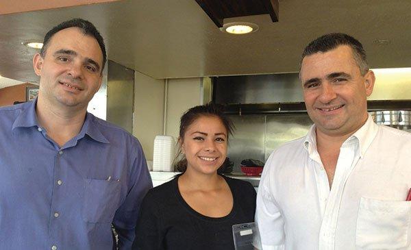 Alex, Karla, and Bill the chef