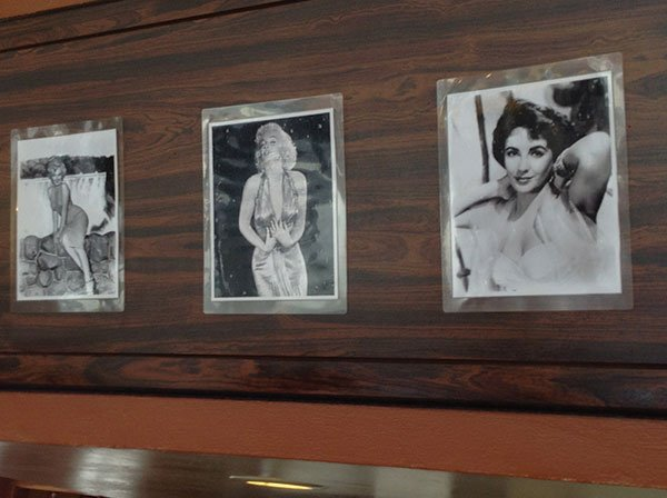 Photos of stars from the 1950s and '60s hang on the walls at Goody's Café.