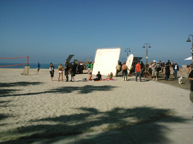 Imperial Beach on set for the Movie Fearless.