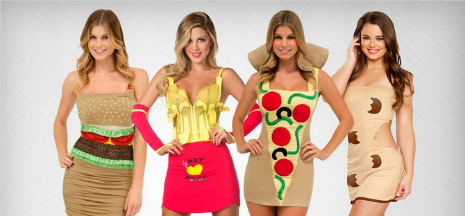 Sexy artery-clogging costumes