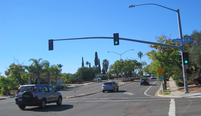 Intersection of Jackson Drive and Cowles Mountain Boulevard