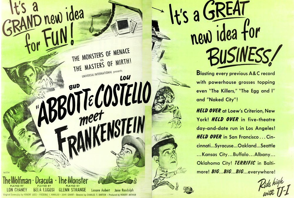 """Abbott & Costello Meet Frankenstein,"" ""The Film Bulletin,"" 8-16-48."
