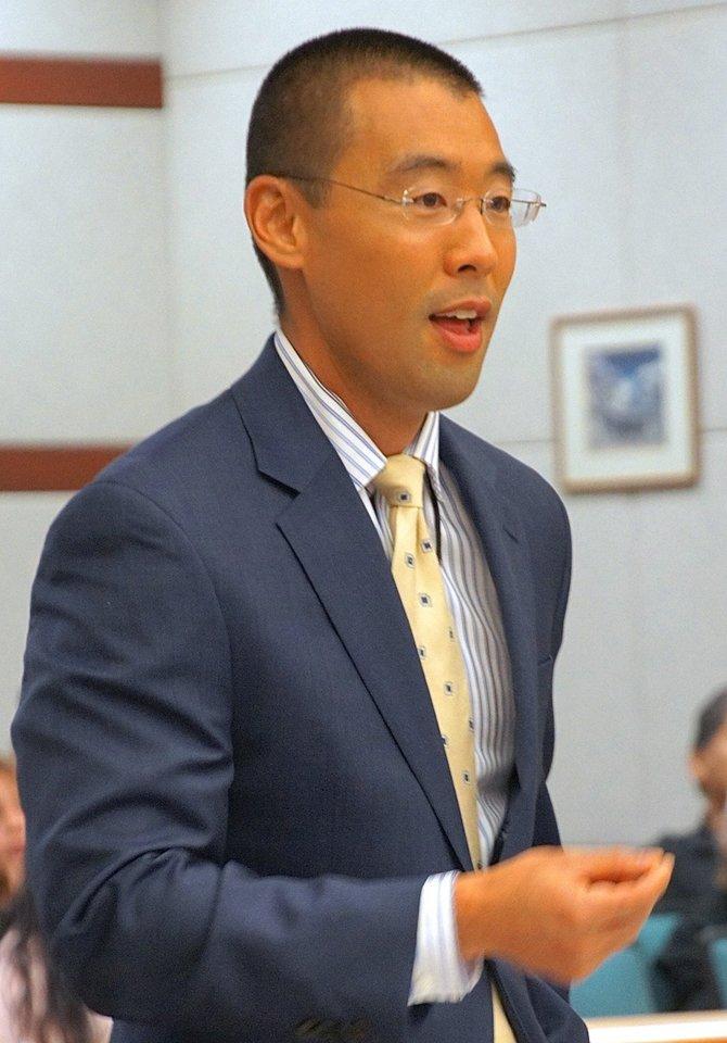Prosecutor Watanabe today. Eva photo.