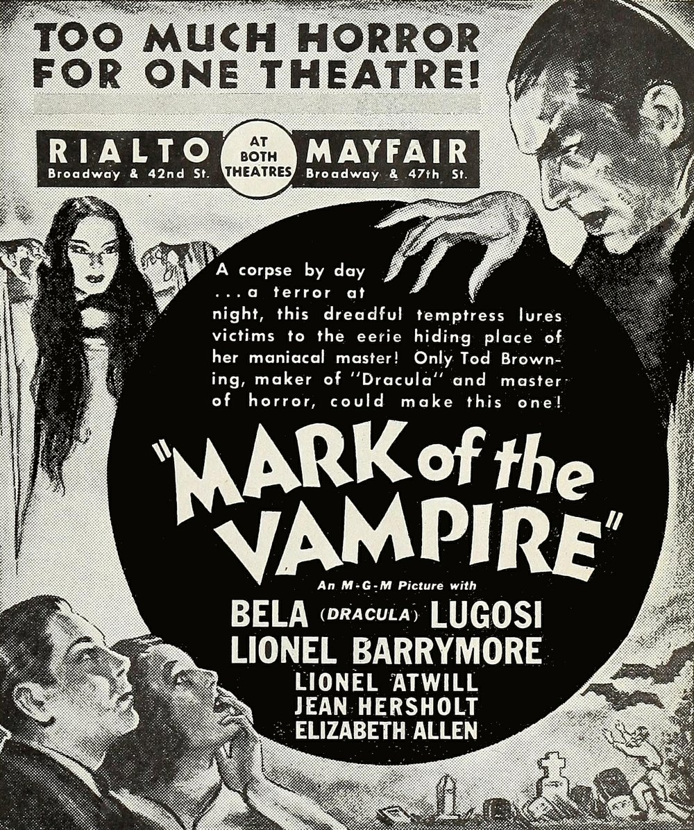 "The punchline to Tod Browning's ""Mark of the Vampire"" is one of the biggest cheats in Hollywood history. Carroll Borland's delivery of her one and only line will leave you screaming with laughter. ""The Film Daily,"" May, 1935."