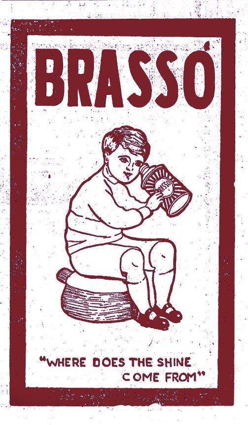 Usher's little helper. Brasso! Makes old bodies new!