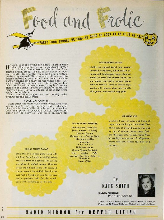 """What's more terrifying than cleaning up after a kid whose been loaded with cream cheese and prunes? Hiring Kate Smith as a """"Food Counselor."""""""