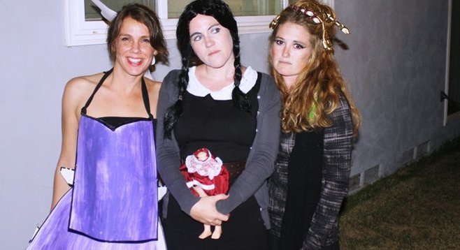 Paper doll, Wednesday Adams, and Medusa