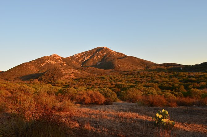 Iron Mountain at Sunset.  Poway, California, October 30th, 2013.