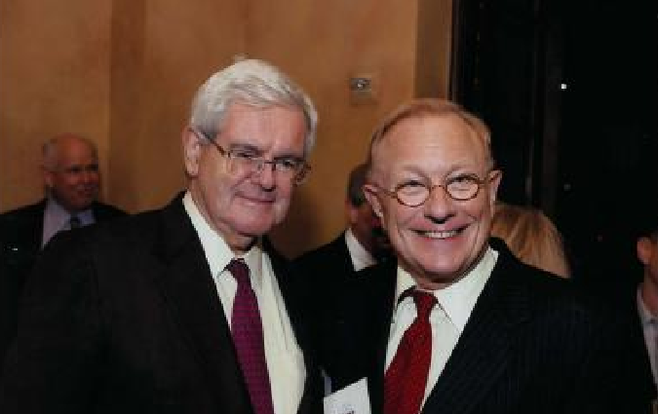 Newt Gingrich, Shawn Steel (from steelzone.org)