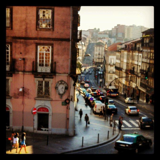 Strolling in the sunlight in Porto, Portugal.