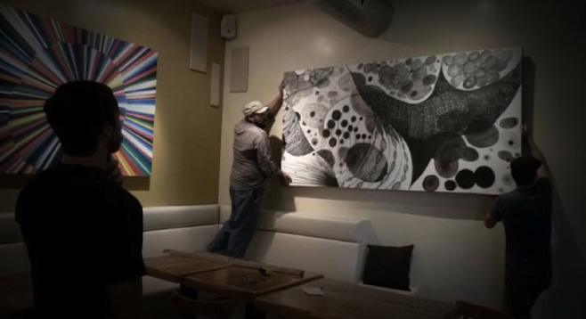 De la Torre's art, formerly hanging at Alchemy in South Park.