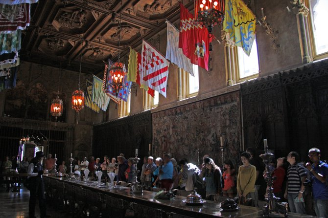 The main dining room at Hearst Castle was the inspiration for the dining hall at Hogwart's School of Witchcraft & Wizardry for the Harry Potter films.  San Simeon, CA