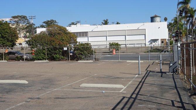 Empty lot across Texas Street