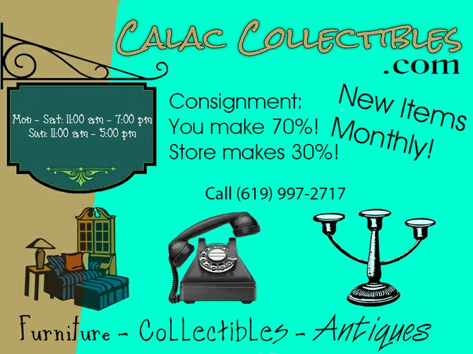 Antiques, Collectibles, and Consignments. Brand new shop just opened!  3773 30th St, San Diego, CA 92104 Main Phone (619) 997-2717 Owners Cell (619) 994-7427