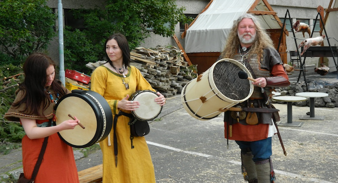 Vikings being vikings: a reenactment at Iceland's annual Viking Fest.