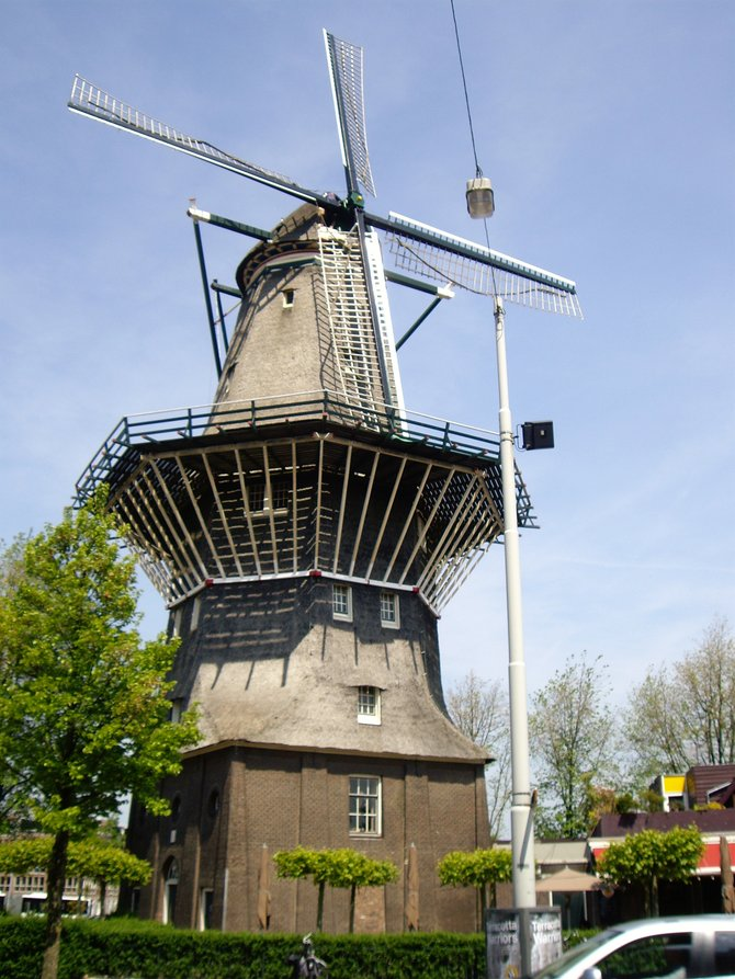 Windmill in Amsterdam, Netherlands