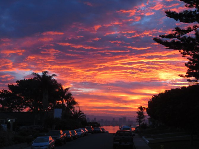 San Diego sunrise November 2013