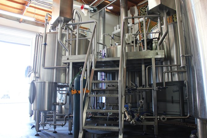 The new 20-barrel brewhouse at Mother Earth Brew Co.