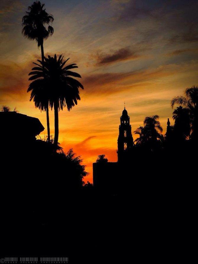 Sunset At Balboa Park