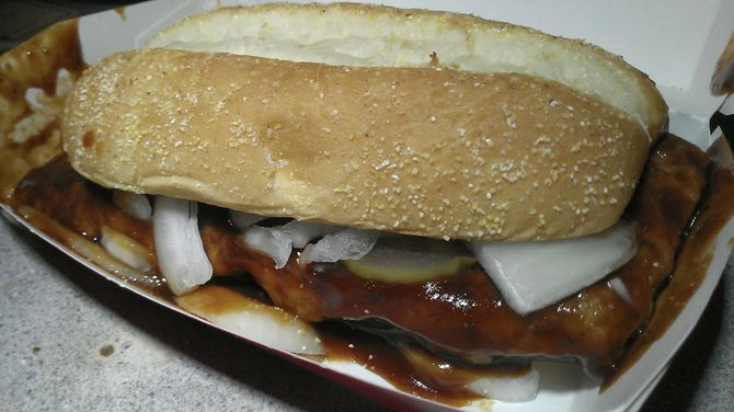 McRib: the tastiest piece of mystery meat you shouldn't eat.