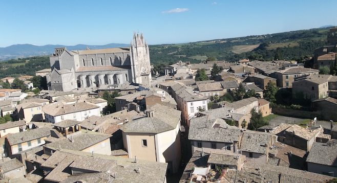 The medieval old town of Orvieto.
