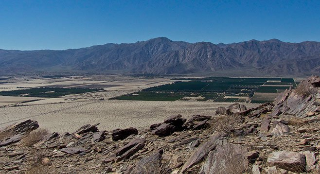 Coyote Mountain South Shoulder view (west) into Borrego Valley