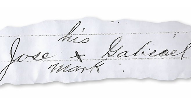 "Jose Gabriel's ""mark"" (on a court document)"