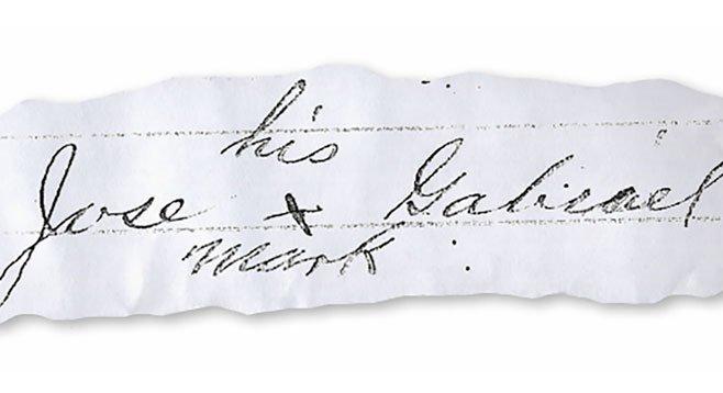 "Jose Gabriel's ""mark"" (on a court document)"