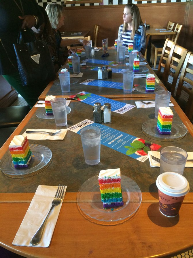 The rainbow-colored cakes that surprised us at Harvey Milk's Diner is more than a visual treat -- it's a symbol for the LGBT community and how Hillcrest has provided them an affordable and safe place to live.