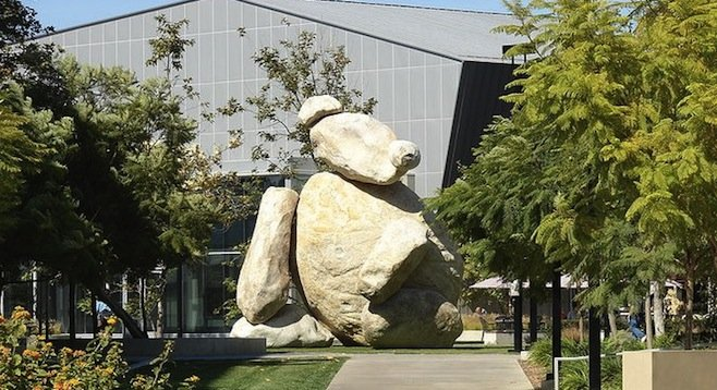 UCSD bear sculpture at Qualcomm Institute